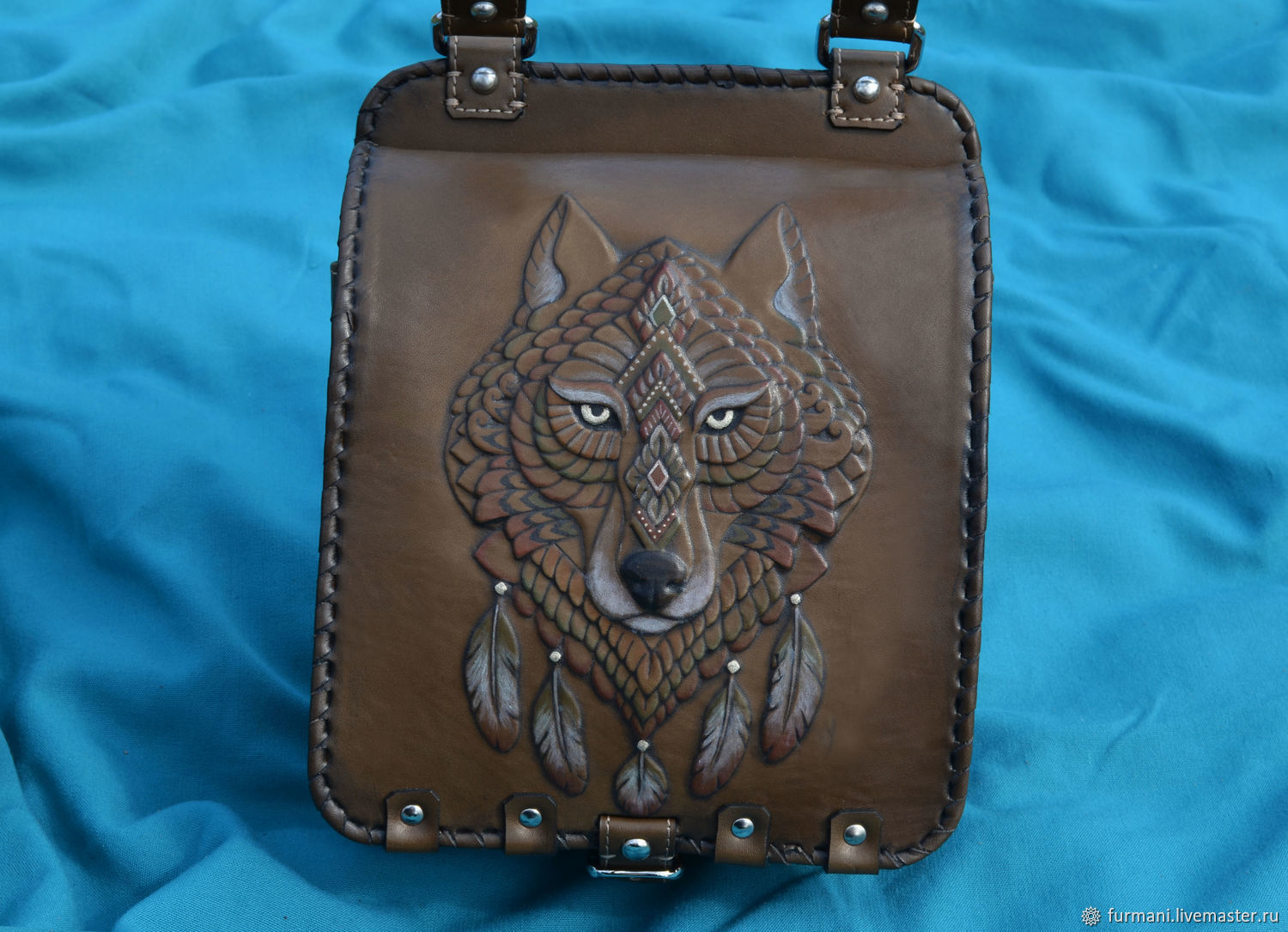 """Leather bag """"SPIRIT OF THE WOLF"""", Classic Bag, Krivoy Rog,  Фото №1"""