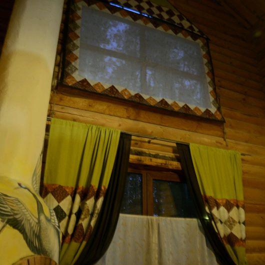 Текстиль, ковры ручной работы. Ярмарка Мастеров - ручная работа. Купить Занавес - пано. Handmade. Текстиль для дачи, лоскутное шитье