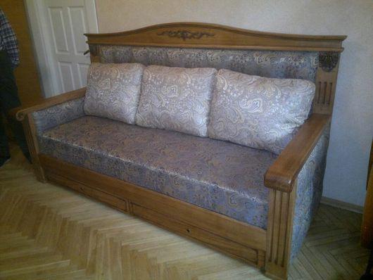 Интерьерные слова ручной работы. Ярмарка Мастеров - ручная работа. Купить Диван-кровать. Handmade. Комбинированный, кровать, натуральное дерево