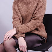 handmade. Livemaster - original item Sweater made from the wool of camel colts. Handmade.