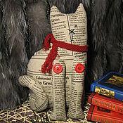 Куклы и игрушки ручной работы. Ярмарка Мастеров - ручная работа Кот Осень. Время для чтения :-). Handmade.