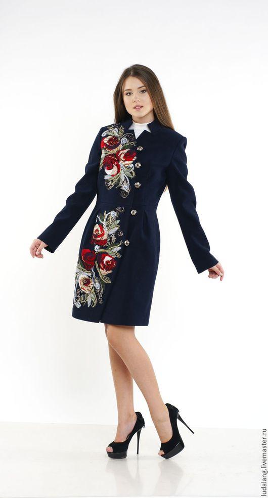 Верхняя одежда ручной работы. Ярмарка Мастеров - ручная работа. Купить Пальто демисезонное Английская роза. Handmade. Весеннее пальто