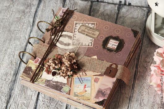 """Фотоальбомы ручной работы. Ярмарка Мастеров - ручная работа. Купить Фотоальбом """"Серенгети"""" (подарок мужчине, путешествия). Handmade. Коричневый"""
