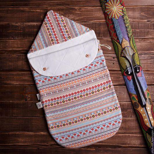 """Для новорожденных, ручной работы. Ярмарка Мастеров - ручная работа. Купить Конверт детский на выписку """"The Indians"""". Handmade. пейсли"""