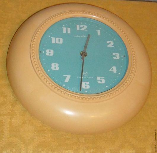 """Винтажные предметы интерьера. Ярмарка Мастеров - ручная работа. Купить Часы настенные """"Янтарь"""". Handmade. Оранжевый, часы янтарь, для декупажниц"""
