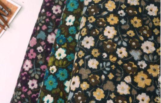 Шитье ручной работы. Ярмарка Мастеров - ручная работа. Купить Байковая ткань с цветами. 3 расцветки. Handmade. Разноцветный