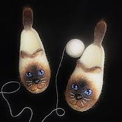 Обувь ручной работы. Ярмарка Мастеров - ручная работа Сиамские близняшки. Валяные шерстяные тапочки.. Handmade.