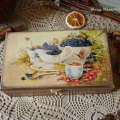 Для дома и интерьера ручной работы. Ярмарка Мастеров - ручная работа Чайная шкатулка в деревенском стиле