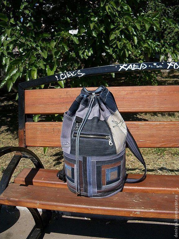 Backpack denim 'Vitruvian', Backpacks, Saratov,  Фото №1