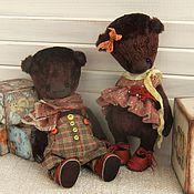 Куклы и игрушки ручной работы. Ярмарка Мастеров - ручная работа Парочка. Мишки тедди.. Handmade.