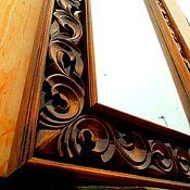 Для дома и интерьера ручной работы. Ярмарка Мастеров - ручная работа Резная рама для зеркала. Handmade.