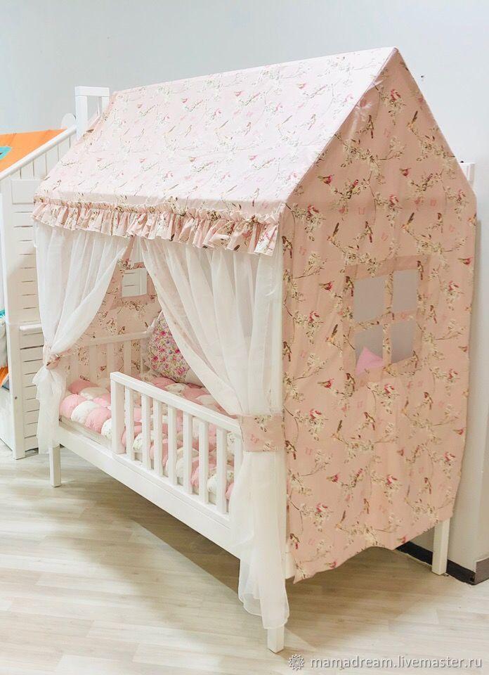 Крыша и занавески для детской кровати-домика, Балдахин для кроватки, Санкт-Петербург,  Фото №1