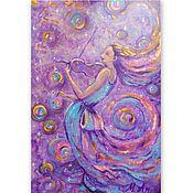 Картины и панно handmade. Livemaster - original item Painting girl with a violin