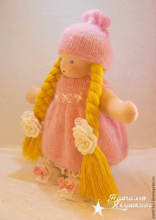 Вальдорфская игрушка ручной работы. Ярмарка Мастеров - ручная работа. Купить Агаша - вальдорфская куколка. Handmade. Бледно-розовый