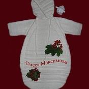 Работы для детей, ручной работы. Ярмарка Мастеров - ручная работа Вязаный конверт для новорожденного Baby Angel. Handmade.
