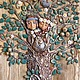 """Этно ручной работы. Ярмарка Мастеров - ручная работа. Купить Панно """" Семейное древо """" Орех + Яблоня. Handmade."""