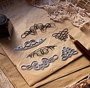 Инструменты для скрапбукинга ручной работы. Ярмарка Мастеров - ручная работа Набор ножей для вырубки Каллиграфия, 3 штуки, Scrapfriend. Handmade.