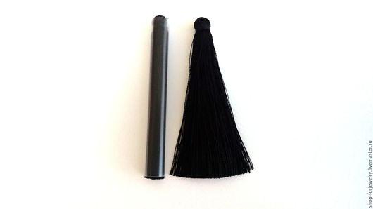 Для украшений ручной работы. Ярмарка Мастеров - ручная работа. Купить Кисть из вискозы 6.5 см. Handmade. Черный
