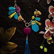 """Украшения ручной работы. Ярмарка Мастеров - ручная работа Колье """"Purple Blue"""". Handmade."""