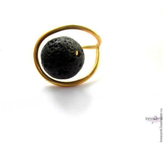 """Кольца ручной работы. Ярмарка Мастеров - ручная работа. Купить Кольцо, """"Лава"""". Handmade. Лава вулканическая, минимализм, большое кольцо"""