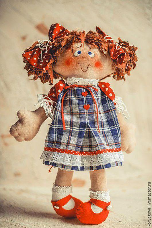 Коллекционные куклы ручной работы. Ярмарка Мастеров - ручная работа. Купить Нюша. Handmade. Синий, хлопок, синтепух