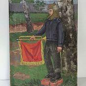 Винтаж handmade. Livemaster - original item Picture socialist Realism, USSR, mid20th century. Handmade.