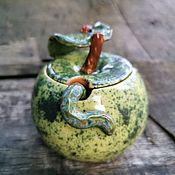 Сахарницы ручной работы. Ярмарка Мастеров - ручная работа Сахарница Зелёное яблоко. Handmade.
