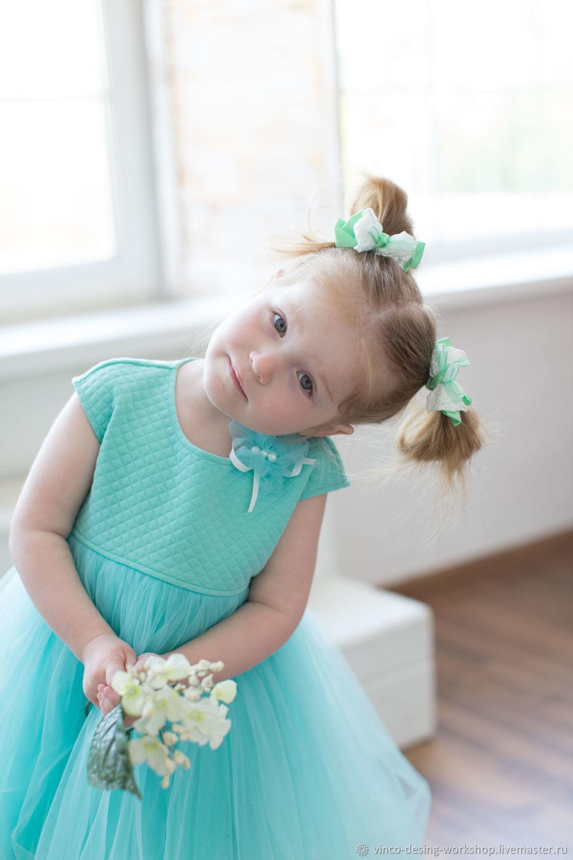 Платье для девочки Мята