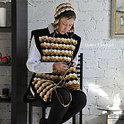 Одежда ручной работы. Ярмарка Мастеров - ручная работа Авторская вязаная туника – трансформер на пуговицах Прогулка по Женеве. Handmade.