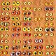 Паллетка` жёлтые большие` цветовое решение представлено в  16 вариантах.