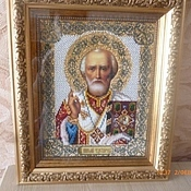 Картины и панно handmade. Livemaster - original item The icon of St. Nicholas the Wonderworker. Handmade.