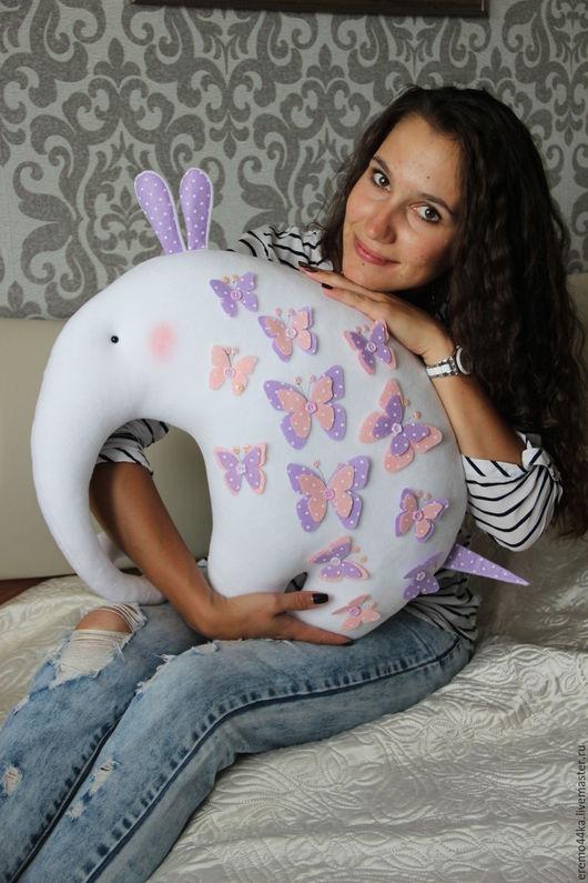 """Игрушки животные, ручной работы. Ярмарка Мастеров - ручная работа. Купить Слоник """"Big Elephant"""". Handmade. Розовый, автоподушка"""