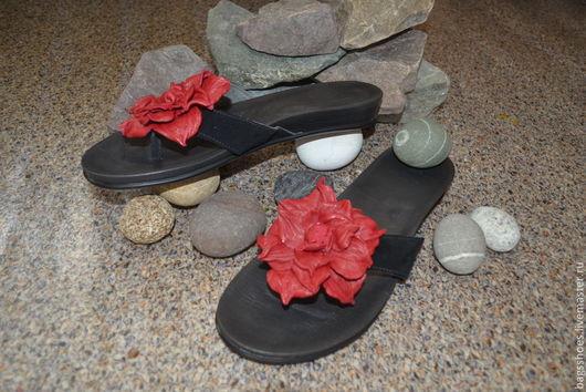 """Обувь ручной работы. Ярмарка Мастеров - ручная работа. Купить обувь на лето""""Кармен"""". Handmade. Черный, летняя обувь"""