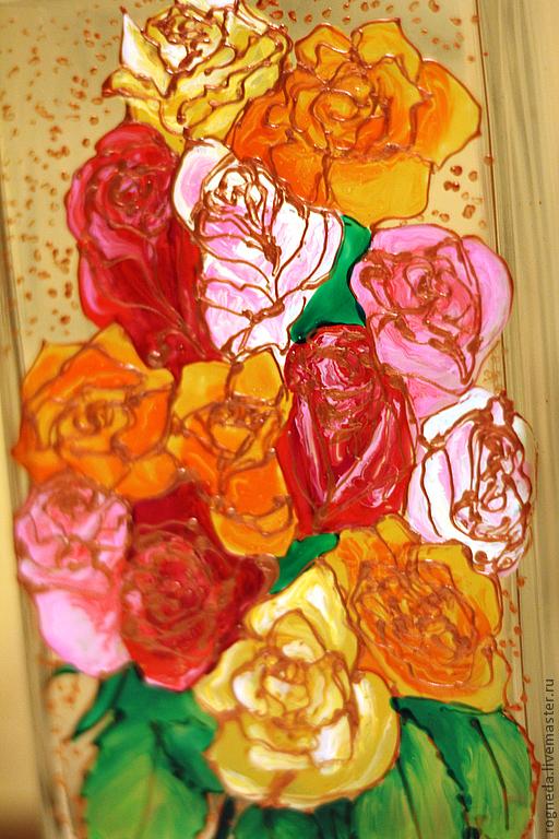 """Ваза """"Розы"""" (0118)"""