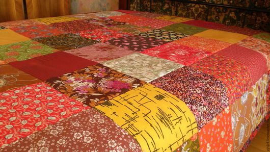 Текстиль, ковры ручной работы. Ярмарка Мастеров - ручная работа. Купить Покрывало Пестрое 7. Handmade. Покрывало цветное