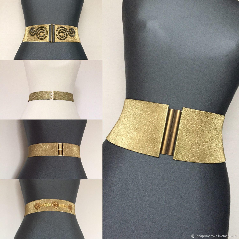 Elastic belts Gold Mat & Glitter, different height, 80mm 6500, Belt, Moscow,  Фото №1