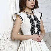 """Одежда ручной работы. Ярмарка Мастеров - ручная работа Платье """"Mademoiselle"""" с подъюбником. Handmade."""