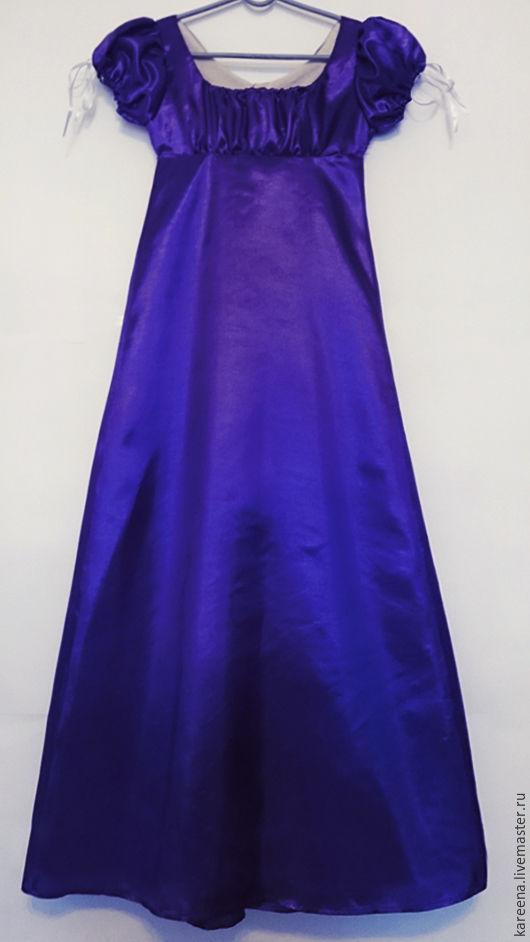 Атласные платье ампир
