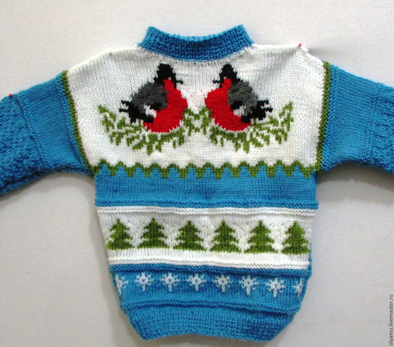 Unisex Clothing handmade. Livemaster - handmade. Buy sweater for kids. Hello, Bullfinches!. spokes.Handmade, winter gift