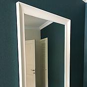 Для дома и интерьера ручной работы. Ярмарка Мастеров - ручная работа Белое зеркало в спальню. Handmade.