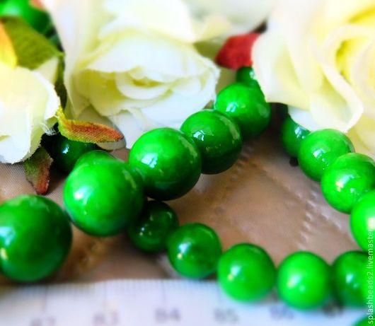Для украшений ручной работы. Ярмарка Мастеров - ручная работа. Купить Агат тонированный зеленый 8,10,12,14мм. Handmade.