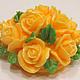 Мыло ручной работы. Ярмарка Мастеров - ручная работа. Купить Мыло Букетик роз. Handmade. Оранжевый, букет в подарок
