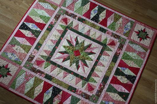 Текстиль, ковры ручной работы. Ярмарка Мастеров - ручная работа. Купить Лоскутный медальон. Handmade. Загородный, американский хлопок 100%