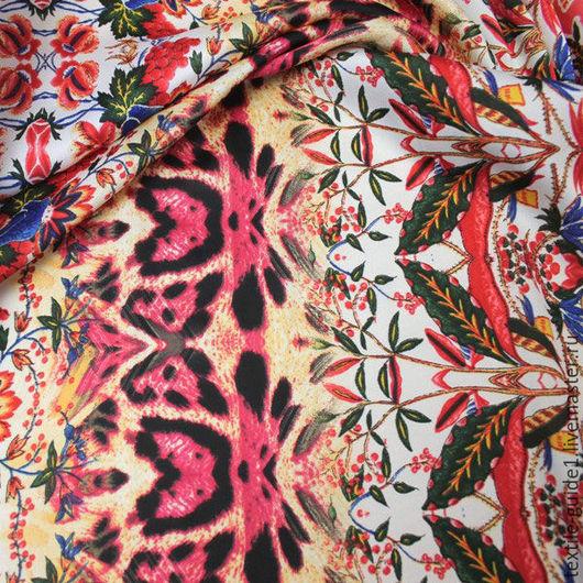 Шитье ручной работы. Ярмарка Мастеров - ручная работа. Купить Ткань плательная атласная 9036061. Handmade. Комбинированный, ткань для платья