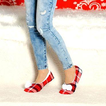 Footwear handmade. Livemaster - original item Slippers-ballet flats. Handmade.