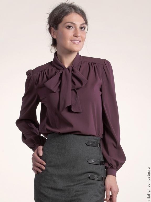 3109081e5fe Блузки ручной работы. Ярмарка Мастеров - ручная работа. Купить 106  блузка  с бантом ...