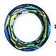 Для украшений ручной работы. Ярмарка Мастеров - ручная работа. Купить Сваровски подвеска БУБЛИК 4139 цвет Bermuda Blue. Handmade.