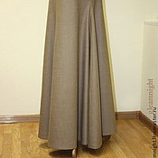 Одежда handmade. Livemaster - original item Wool skirt in floor-to-order. Handmade.