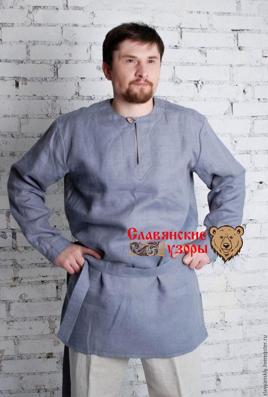 Одежда ручной работы. Ярмарка Мастеров - ручная работа. Купить Рубаха тёплая серая. Handmade. Серый, рубаха теплая, утепленная