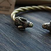 Украшения handmade. Livemaster - original item Bronze bracelet with rams ,Viking bracelet. Handmade.